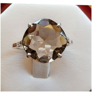 10ct Smokey Topaz Solitaire Ring Size 7.75